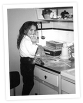 Melissa, catering from an early age!